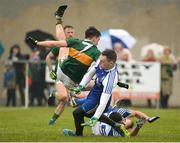 18 February 2018; Rory Beggan of Monaghan makes a save from Brian Ó Beaglaíoch of Kerry during the Allianz Football League Division 1 Round 3 Refixture match between Monaghan and Kerry at Páirc Grattan in Inniskeen, Monaghan. Photo by Oliver McVeigh/Sportsfile
