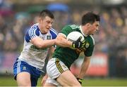 18 February 2018; Paul Murphy of Kerry in action against Barry Kerr of Monaghan during the Allianz Football League Division 1 Round 3 Refixture match between Monaghan and Kerry at Páirc Grattan in Inniskeen, Monaghan. Photo by Oliver McVeigh/Sportsfile