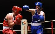 17 February 2018; Ciara Sheedy, right, Ardnaree, Co. Mayo, in action against Grainne Walsh, Sparticus, Tullamore, Co. Offaly during their bout at the 2018 IABA Elite Boxing Championships Semi-Finals at the National Stadium in Dublin. Photo by Barry Cregg/Sportsfile