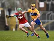 18 February 2018; Colm Galvin of Clare in action against Robbie O'Flynn of Cork during the Allianz Hurling League Division 1A Round 3 match between Clare and Cork at Cusack Park in Ennis, Clare. Photo by Seb Daly/Sportsfile
