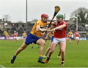 18 February 2018; Peter Duggan of Clare in action against Darren Browne of Cork during the Allianz Hurling League Division 1A Round 3 match between Clare and Cork at Cusack Park in Ennis, Clare. Photo by Seb Daly/Sportsfile
