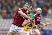 18 February 2018; Cathal Mannion of Galway during the Allianz Hurling League Division 1B Round 3 match between Galway and Offaly at Pearse Stadium in Galway. Photo by Matt Browne/Sportsfile