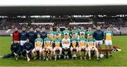 18 February 2018; The Offaly squad before the Allianz Hurling League Division 1B Round 3 match between Galway and Offaly at Pearse Stadium in Galway. Photo by Matt Browne/Sportsfile