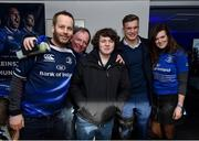 17 February 2018; Leinster players Mick Kearney, Josh van der Flier and Tom Daly in The Blue Room ahead ahead of Guinness PRO14 Round 15 match between Leinster and Scarlets at the RDS Arena in Dublin. Photo by Seb Daly/Sportsfile