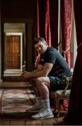 19 February 2018; Peter O'Mahony poses for a portrait after an Ireland Rugby press conference at Carton House in Kildare. Photo by Piaras Ó Mídheach/Sportsfile