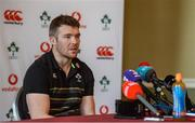 19 February 2018; Peter O'Mahony during an Ireland Rugby press conference at Carton House in Kildare. Photo by Piaras Ó Mídheach/Sportsfile