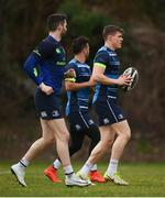 19 February 2018; Garry Ringrose, right, during a Leinster Rugby training session at Leinster Rugby Headquarters in UCD, Dublin. Photo by Stephen McCarthy/Sportsfile