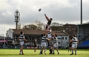 19 February 2018;  A general view of a line out during the Bank of Ireland Leinster Schools Senior Cup Round 2 match between Belvedere College and Newbridge College at Donnybrook Stadium in Dublin. Photo by Sam Barnes/Sportsfile