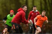19 February 2018; JJ Hanrahan during Munster Rugby squad training at the University of Limerick in Limerick. Photo by Diarmuid Greene/Sportsfile