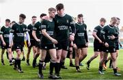 19 February 2018; Newbridge College players, including Luke Rigney and Jack Doyle dejected following the Bank of Ireland Leinster Schools Senior Cup Round 2 match between Belvedere College and Newbridge College at Donnybrook Stadium in Dublin. Photo by Sam Barnes/Sportsfile