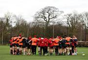 19 February 2018; Munster players gather together in a huddle during Munster Rugby squad training at the University of Limerick in Limerick. Photo by Diarmuid Greene/Sportsfile