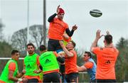19 February 2018; Sean O'Connor during lineout practice at Munster Rugby squad training at the University of Limerick in Limerick. Photo by Diarmuid Greene/Sportsfile