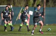 20 February 2018; Joey Carbery during Ireland Rugby squad training at Carton House in Maynooth, Co Kildare. Photo by David Fitzgerald/Sportsfile