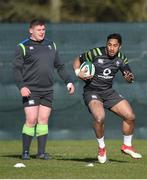 20 February 2018; Bundee Aki during Ireland Rugby squad training at Carton House in Maynooth, Co Kildare. Photo by David Fitzgerald/Sportsfile