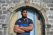 20 February 2018; Bundee Aki poses for a portrait following an Ireland press conference at Carton House in Maynooth, Co Kildare. Photo by David Fitzgerald/Sportsfile