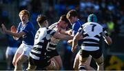 20 February 2018; Gavin O'Brien of St Mary's College is tackled by James Corcoran of Cistercian College Roscrea during the Bank of Ireland Leinster Schools Senior Cup Round 2 match between Cistercian College Roscrea and St Mary's College at Donnybrook Stadium in Dublin. Photo by Daire Brennan/Sportsfile