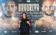 20 February 2018; Katie Taylor in attendance during the Kickoff press conference announcing the April 28, 2018 fight card to take place in the Barclays Center in Brooklyn. Press conference held in New York. Photo by Ed Mulholland/Matchroom Boxing USA via Sportsfile