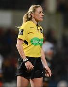 9 February 2018; Referee Joy Neville during the Guinness PRO14 Round 14 match between Ulster and Southern Kings at Kingspan Stadium, in Belfast. Photo by Oliver McVeigh/Sportsfile