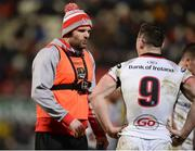 9 February 2018; The injured Jared Payne of Ulster bringing water to players during the Guinness PRO14 Round 14 match between Ulster and Southern Kings at Kingspan Stadium, in Belfast. Photo by Oliver McVeigh/Sportsfile