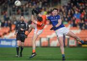 11 February 2018; Gregory McCabe of Armagh in action against Padraig McCormack of Longford during the Allianz Football League Division 3 Round 3 match between Armagh and Longford at the Athletic Grounds in Armagh. Photo by Oliver McVeigh/Sportsfile