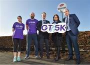 23 February 2018; Attendees, from left, Jane Quirke, Director, Grant Thornton, Connacht Rugby captain John Muldoon, Liam Kenny, Director, Grant Thornton, Karen Golden, Simon Community, and Aengus Burns, Partner Grant Thornton, at the Grant Thornton Corporate 5K Team Challenge 2018 Series Launch at Ballybrit Racecourse, in Galway.  Photo by Seb Daly/Sportsfile
