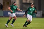 9 February 2018; Tom O'Toole, left, and Ronan Foley of Ireland during the U20 Six Nations Rugby Championship match between Ireland and Italy at Donnybrook Stadium, in Dublin. Photo by Piaras Ó Mídheach/Sportsfile