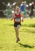 21 February 2018; Sarah Healy of Holy Child Killiney, Dublin, on her way to winning the Senior Girls 2,500m event during the Irish Life Health Leinster Schools Cross Country at Santry Demesne in Santry, Co Dublin. Photo by Piaras Ó Mídheach/Sportsfile