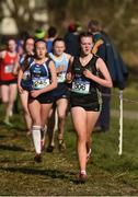 21 February 2018; Aoife McCormack of St Peter's Dunboyne, Co Meath, in the Junior Girls 2,000m event during the Irish Life Health Leinster Schools Cross Country at Santry Demesne in Santry, Co Dublin. Photo by Piaras Ó Mídheach/Sportsfile