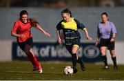 21 February 2018; Bronagh McGuinness of Moville Community College during the Bank of Ireland FAI Schools Senior Girls National Cup Final match between Moville Community College, Donegal, and Presentation Secondary School Thurles, Tipperary, at Home Farm FC in Whitehall, Dublin. Photo by Stephen McCarthy/Sportsfile