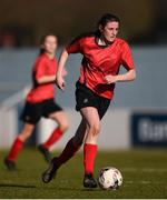 21 February 2018; Casey Hennessy of Presentation Secondary School Thurles during the Bank of Ireland FAI Schools Senior Girls National Cup Final match between Moville Community College, Donegal, and Presentation Secondary School Thurles, Tipperary, at Home Farm FC in Whitehall, Dublin. Photo by Stephen McCarthy/Sportsfile