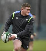 22 February 2018; Tadhg Furlong during Ireland rugby squad training at Carton House in Maynooth, Co Kildare. Photo by Brendan Moran/Sportsfile