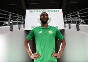 22 February 2018; Daniel Carr of Shamrock Rovers poses for a portrait during a media conference at Tallaght Stadium in Dublin. Photo by Stephen McCarthy/Sportsfile