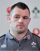 22 February 2018; Cian Healy during an Ireland press conference at Carton House in Maynooth, Co Kildare. Photo by Brendan Moran/Sportsfile