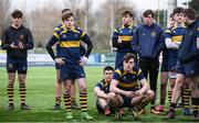 22 February 2018;  The King's Hospital players dejected following the Bank of Ireland Vinnie Murray Cup Final match between The Kings Hospital and Wesley College at Donnybrook Stadium in Dublin. Photo by Sam Barnes/Sportsfile