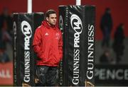23 February 2018; Munster head coach Johann van Graan prior to the Guinness PRO14 Round 16 match between Munster and Glasgow Warriors at Irish Independent Park in Cork. Photo by Diarmuid Greene/Sportsfile