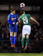 23 February 2018; Gary Comerford of Waterford in action against Garry Buckley of Cork City during the SSE Airtricity League Premier Division match between Cork City and Waterford at Turner's Cross in Cork. Photo by Tom Beary/Sportsfile