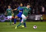 23 February 2018; Kieran Sadlier of Cork City in action against Bastien Hery of Waterford during the SSE Airtricity League Premier Division match between Cork City and Waterford at Turner's Cross in Cork. Photo by Tom Beary/Sportsfile