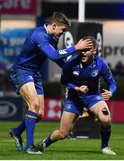 23 February 2018; Nick McCarthy of Leinster celebrates after scoring his side's seventh try with Garry Ringrose during the Guinness PRO14 Round 16 match between Leinster and Southern Kings at the RDS Arena in Dublin. Photo by Ramsey Cardy/Sportsfile