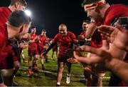 23 February 2018; Munster players form a tunnel for team-mate Simon Zebo after the Guinness PRO14 Round 16 match between Munster and Glasgow Warriors at Irish Independent Park in Cork. Photo by Diarmuid Greene/Sportsfile