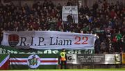 23 February 2018; Cork City supporters during a minutes applause for the late Liam Miller in the twenty second minute during the SSE Airtricity League Premier Division match between Cork City and Waterford at Turner's Cross in Cork. Photo by Tom Beary/Sportsfile