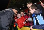 23 February 2018; Simon Zebo of Munster meets supporters after the Guinness PRO14 Round 16 match between Munster and Glasgow Warriors at Irish Independent Park in Cork. Photo by Diarmuid Greene/Sportsfile
