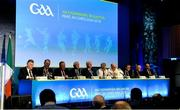 24 February 2018; A general view of the top table during the GAA Annual Congress 2018 at Croke Park in Dublin. Photo by Piaras Ó Mídheach/Sportsfile