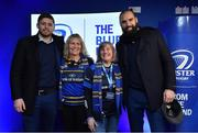 23 February 2018; Leinster players Ross Byrne, left, and Scott Fardy with supporters in the Blue Room at the Guinness PRO14 Round 16 match between Leinster and Southern Kings at the RDS Arena in Dublin. Photo by Brendan Moran/Sportsfile