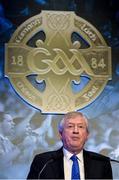 23 February 2018; Ard Stiúrthóir of the GAA Páraic Duffy speaking during the GAA Annual Congress 2018 at Croke Park in Dublin. Photo by Piaras Ó Mídheach/Sportsfile
