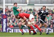 24 February 2018; Chris Farrell of Ireland is tackled by Alun Wyn Jones of Wales during the NatWest Six Nations Rugby Championship match between Ireland and Wales at the Aviva Stadium in Lansdowne Road, Dublin. Photo by David Fitzgerald/Sportsfile