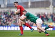 24 February 2018; Scott Williams of Wales is tackled by Chris Farrell of Ireland during the NatWest Six Nations Rugby Championship match between Ireland and Wales at the Aviva Stadium in Lansdowne Road, Dublin. Photo by David Fitzgerald/Sportsfile