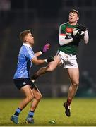 24 February 2018; Diarmuid O'Connor of Mayo in action against Jonny Cooper of Dublin during the Allianz Football League Division 1 Round 4 match between Mayo and Dublin at Elverys MacHale Park in Castlebar, Co Mayo. Photo by Stephen McCarthy/Sportsfile