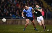 24 February 2018; Ciaran Kilkenny of Dublin in action against Lee Keegan of Mayo during the Allianz Football League Division 1 Round 4 match between Mayo and Dublin at Elverys MacHale Park in Castlebar, Co Mayo. Photo by Stephen McCarthy/Sportsfile