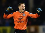 24 February 2018; Shane Supple of Bohemians celebrates during the SSE Airtricity League Premier Division match between Limerick FC and Bohemians at Market's Field in Limerick. Photo by Harry Murphy/Sportsfile Photo by Harry Murphy/Sportsfile