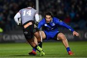 23 February 2018; James Lowe of Leinster in action against Michael Makase of Southern Kings during the Guinness PRO14 Round 16 match between Leinster and Southern Kings at the RDS Arena in Dublin. Photo by Ramsey Cardy/Sportsfile